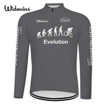 e0c63e981e La evolución de secado rápido de ciclismo Jersey manga larga Primavera  Verano transpirable de los hombres