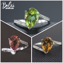 Bolai color change nano diaspore ring 925 sterling silver zultanit gemstone fine rings jewelry for women wedding best gift 2019 bolai 100% natural tourmaline ring 925 sterling silver fancy color five stone gemstone fine jewelry for women wedding rings 2019