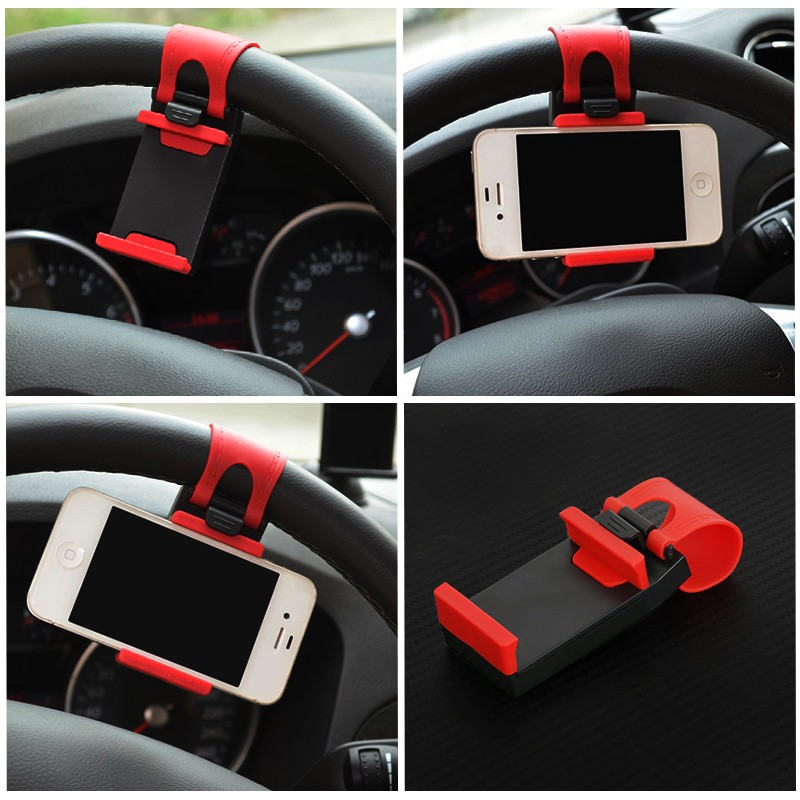 YeeSite Universal Car Steering Wheel Clip Mount Holder for iPhone 8 7 7Plus 6 6s Samsung Xiaomi Huawei Mobile Phone GPS 2