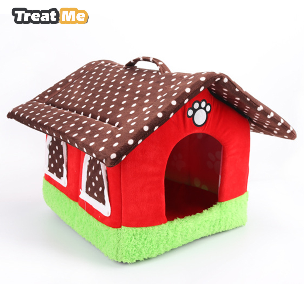 Lovely Dog House Warmer Pet Bed All Seasons Available Pet Mat Soft And Fortable Dog Beds For Small Dogs Detachable Kennel