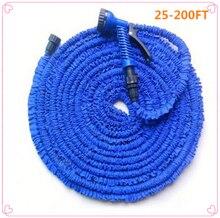 Шланг для полива сада 25 200FT, растягивающийся шланг для воды, соединитель синего и зеленого цветов