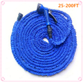 Coche caliente magia manguera flexible manguera de jardín extensible de carretes de jardín manguera de agua para riego conector azul verde 25-200FT