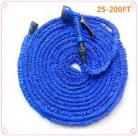 Garten schlauch magie wasser schlauch bewässerung schlauch flexible erweiterbar rollen schlauch für bewässerung anschluss Blau Grün 25-200FT