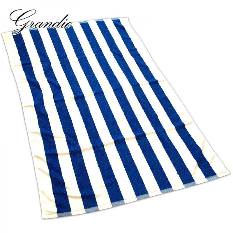 100 Cotton Beach Towel 80x150cm Blue