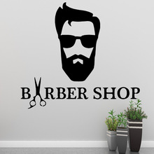 Classic barber shop Wall Art Decal Sticker For Haircut Vinyl Mural Barber Stickers Hairstyle
