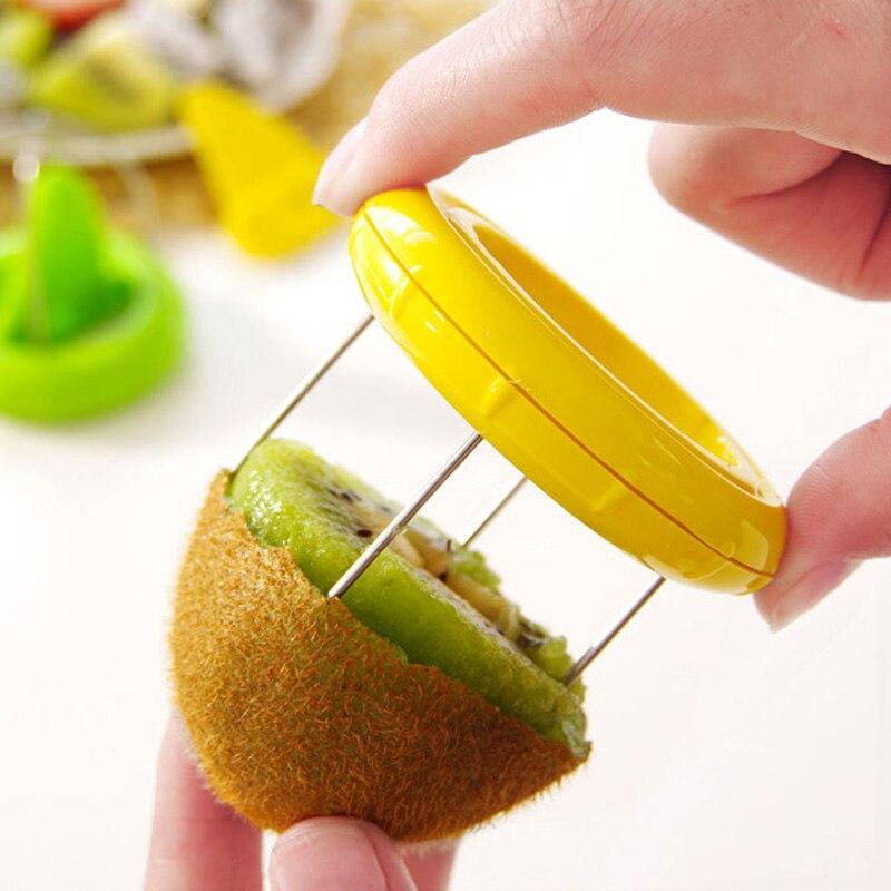 Fruit Cutter Kitchen Tools Kiwifruit Peeling Digging Core Twister Slicer Hot Sale Kitchen Accessories