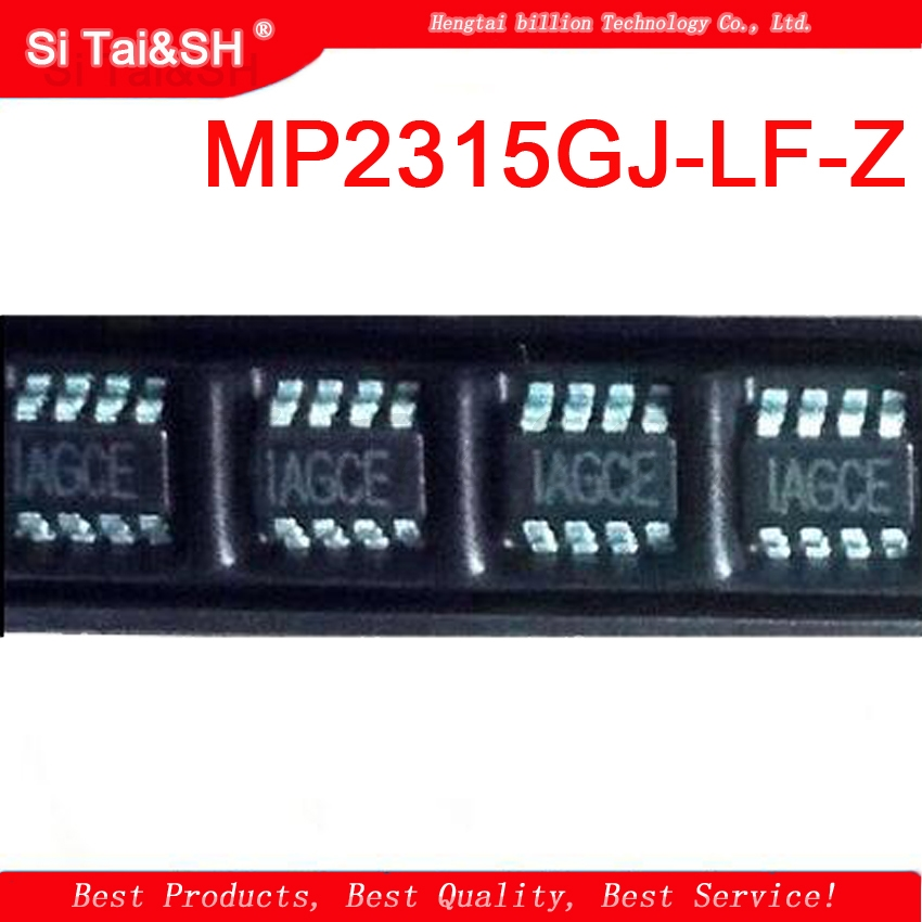 5PCS  MP2315GJ-LF-Z  MP2315 Silk ScreenI: AGCD IAGCE    SOT23-8