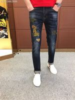 2018 new High Quality fashion Jeans Runway Summer man Brand Luxury Men's Clothing A07639