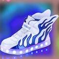 2017 new hot meninos meninas usb charger led crianças shoes com luz crianças asa piscando iluminado luminosa sneakers chaussure tx0272