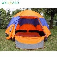 5 kişi altıgen moğol Yurt çadır yağmur geçirmez Anti UV nefes çift katmanlı kamp çadırı açık kamp için en önerilen