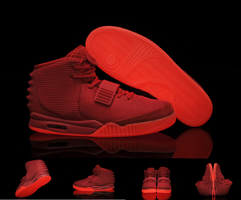 Air Yeezy 2 Red October Kanye West Glowing Shoes For women Basketball Shoes  With Top Quality on Aliexpress.com  74e6b4791