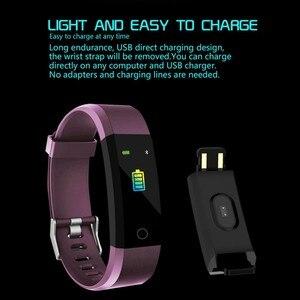 Image 5 - Pulsera inteligente con pantalla a Color de 0,96 pulgadas, pulsera inteligente con Bluetooth, reloj Digital, pulsera inteligente con monitor de ritmo cardíaco y presión