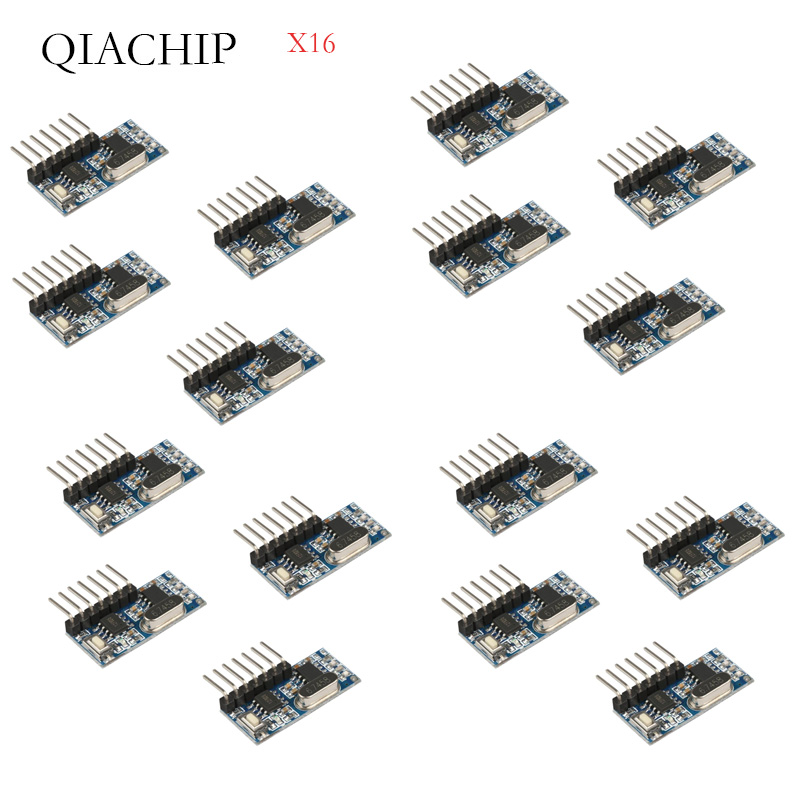 16 шт. 433 МГц беспроводной пульт дистанционного управления Переключатель 4CH RF реле EV1527 кодирование обучающий модуль для ламповое реле приемника-in Пульты ДУ from Бытовая электроника