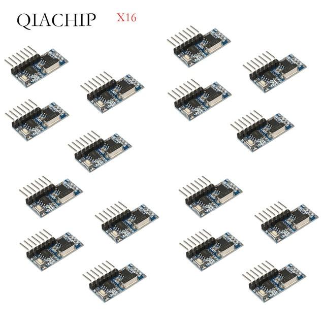 16 Pcs 433Mhz Wireless Remote Control Switch RF Relay EV1527 Encoding Learning Module For Light Relay ReceiverDIFODA 4CH