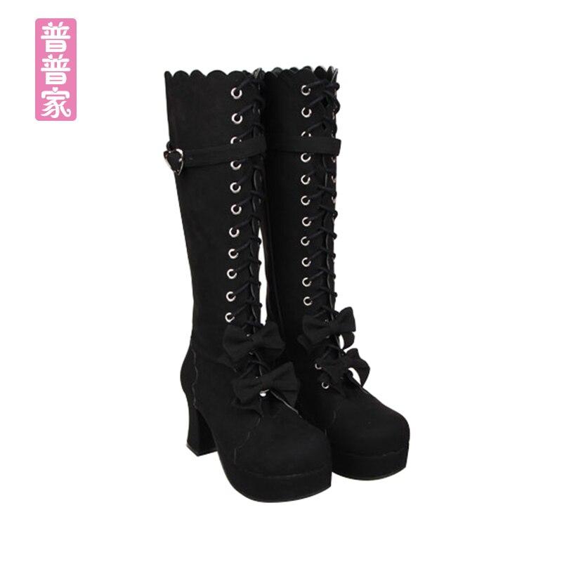 Cool Noir D'été Pure Ronde Bottes Princesse Haute Punk Tête Pu9832 Et multi Mode Chaussures Printemps Doux Arc Couleur Cravate Belle Femmes ivoire AHzZqHwX