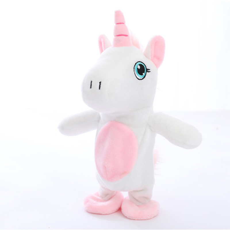 Electronic Pets Toys Repeat Your Words Toy For Children Singing Unicorn Interactive Pet Battery Robot Horse Electronic Games Toy
