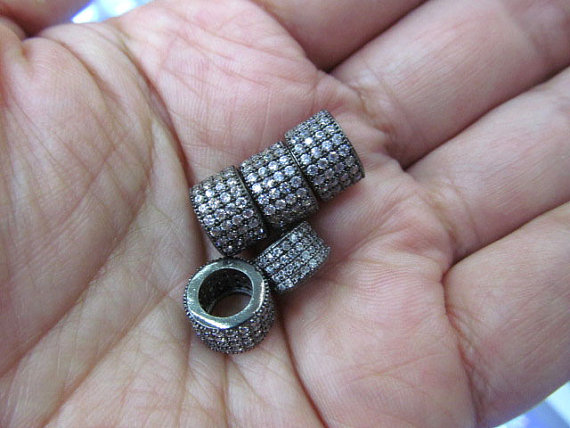 Micro Pave CZ Spacer, Top Quality 50pcs 5x6 6x8 8x10mm Brass Cubic Zirconia drum Tube column Gunmetal crystal Findings мозаика chakmaks krista daisy 1 5x6 2 30 1x30 1