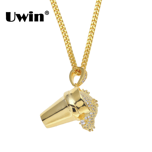 Uwin pour out drink ice cream crystal cubic zirconia slide men uwin pour out drink ice cream crystal cubic zirconia slide men pendants necklace iced out gold aloadofball Image collections