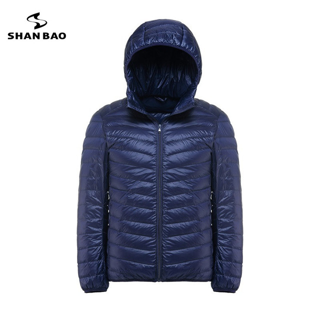 SHNA BAO brand clothing men stand-collar light section casual down jacket 2017 winter fashion large size down jacket 4XL 5XL 6XL