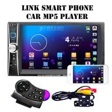"""6.6 """"HD Сенсорный экран стерео MP4 MP5 плеер 2 DIN Bluetooth 3.0 в тире AUX FM Радио USB SD аудио видео плеер Дистанционное управление"""