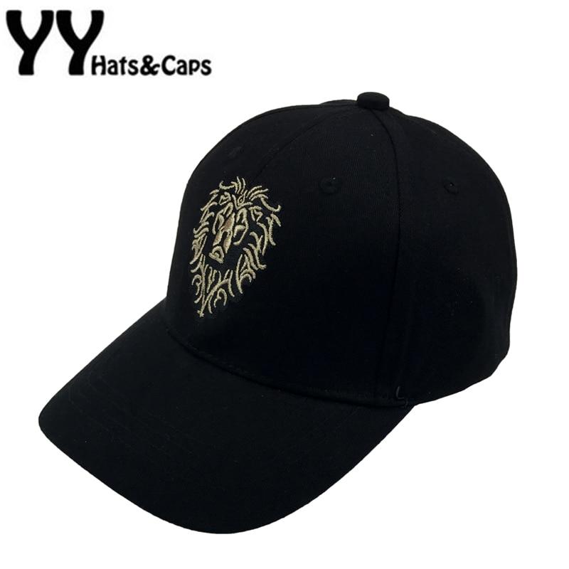 все цены на  Soild Dad Hat Embroidery Lion Snapback Caps Men Cotton Baseball Cap Adjustable Adult Summer Sun Visor Hats Casquette YY17101  онлайн
