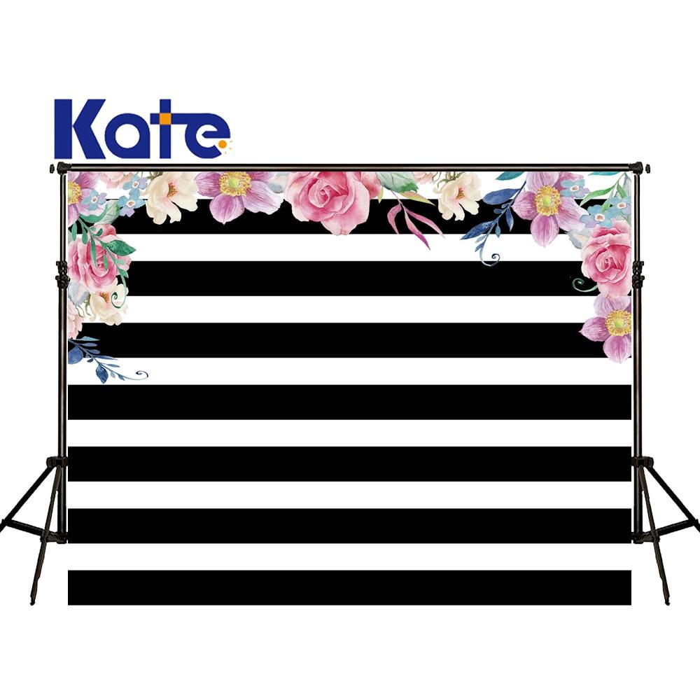 KATE Photography Backdrop 10X10Ft Black And White Striped Backdrop Vintage Photography Backdrops Photocall Flower Wedding сумка kate spade new york wkru2816 kate spade hanna