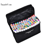 TOUCHFIVE 80 Colors Drawing Marker Pen Animation Sketch Markers Set For Artist Manga Graphic Alcohol Based