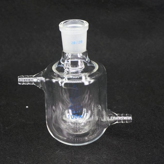 100 ミリリットルの実験ジャケットガラス二重層フラスコ炉ボトルラボキットツール