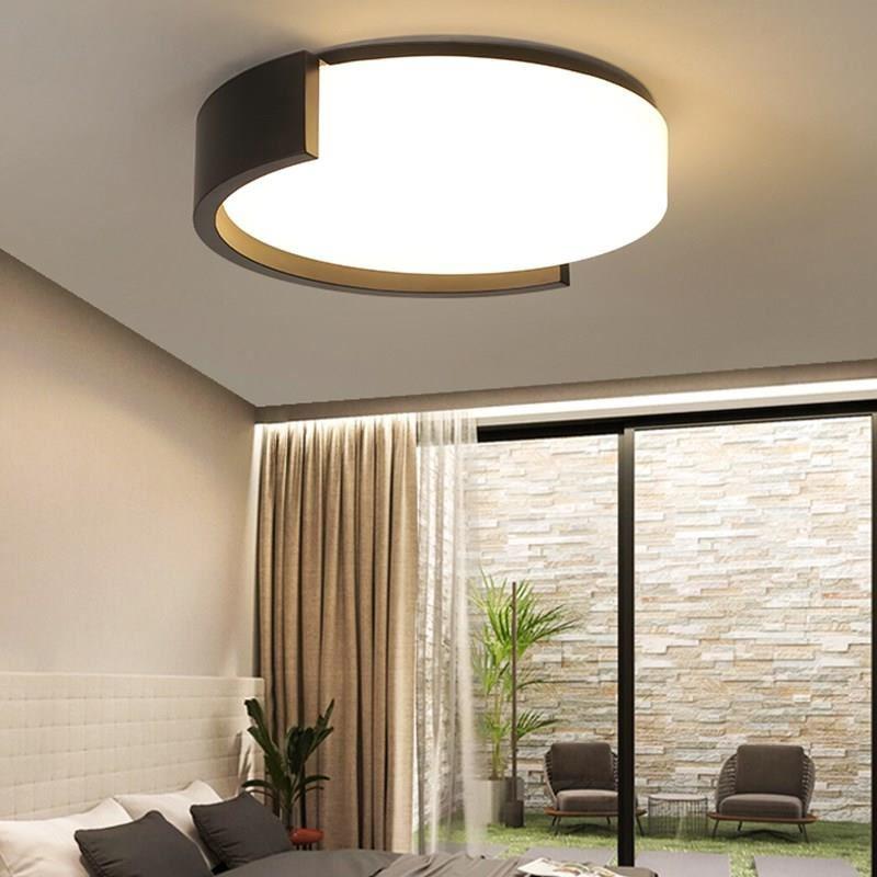 Black/White Round Modern LED Ceiling Lights For Living Room Bedroom Indoor Hmoe Lighting Luminaria LED Ceiling Lamp AC265-85V
