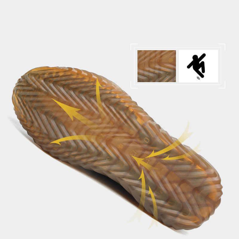 Dropshipping ทำลาย Ryder รองเท้าผู้หญิง Toe Air ความปลอดภัยรองเท้าเจาะหลักฐานทำงานรองเท้าผ้าใบ Breathable รองเท้า
