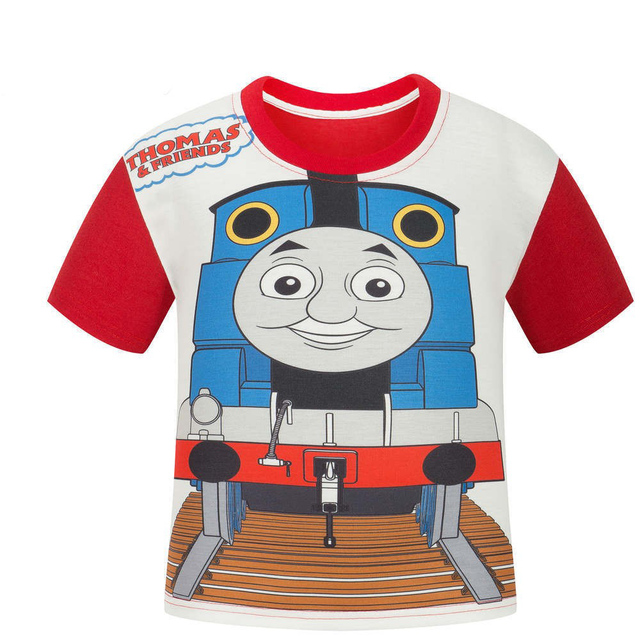 Thomas train children's cartoon t shirts short sleeve summer printing boy and girl t-shirts
