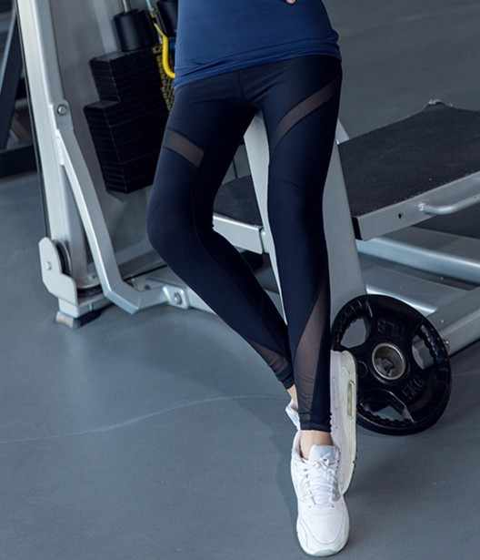 6832715dca ... Women Sports Yoga Pants Transparent Leggins Mesh Jogging Femme Athletic  Leggings Running Tights Women Mujer Fitness ...