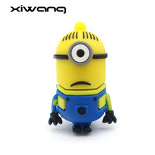 Minion Lucu USB Flash Drive 8 Gb 16GB 32GB 64GB 128GB Kartun Pen Drive Memori Stick flashdisk USB 2.0 Hadiah Terbaik(China)