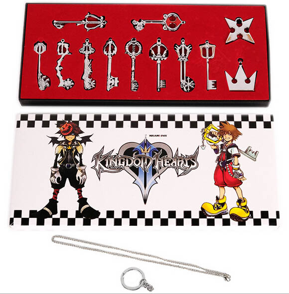 Novelty & Special Use Costumes & Accessories Kingdom Hearts 2 Ii Keyblade Keychain Pendant Necklace Set Box 12pcs Weapons Set Collection Latest Fashion