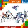 277 шт. Новые Рыцари 14026 копье против молнии DIY Модель Строительные Блоки Игрушки Nexus Совместимо с Lego