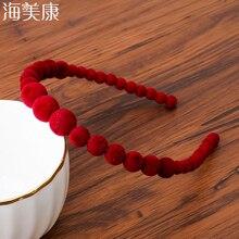 Haimeikang большой ободок на голову с жемчугом Для женщин свадебные волос аксессуары, лента для волос с обручем для волос, головные уборы для девушек свадебные украшения из жемчуга
