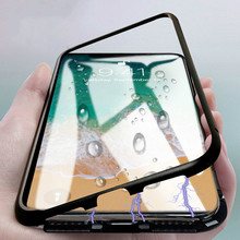 New Luxury Magnetic Case For Samsung Galaxy S8 S9 Plus S7 Edge Note 8 9 Clear Mobile Phone tempered glass Back Cover Casing Etui