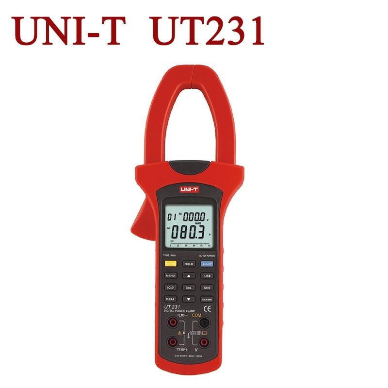 все цены на  UNI-T UT231 Single-phase 2-wire 600KW Power Clamp Meter True RMS Digital Clamp Meters Power Factor Phase Angle USB Data Logging  онлайн