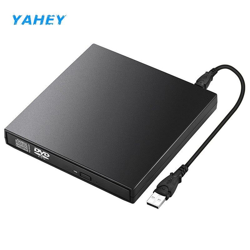 DVD USB externo Drives ópticos DVD ROM Player CD-RW quemador escritor grabadora portátil para computadora portátil pc Windows 7 /8/10