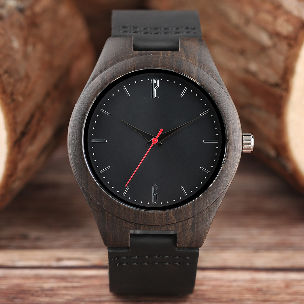 где купить Nature Wood Simple Men Bamboo Watch Cool Casual Genuine Leather Band Strap Wrist Watches Quartz Women Gift Relogio Masculino дешево