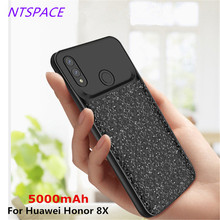 лучшая цена 5000mAh Portable Extend Power Bank Battery Charger Case For Huawei Honor 8X External Power Bank Cover Back Clip Charging Case