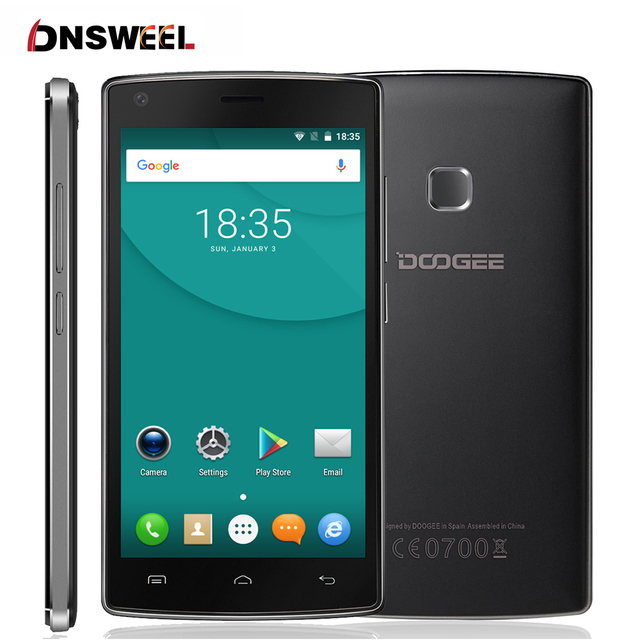 "Doogee X5 MAX mobile phone MTK6580 Quad Core android 6.0 smartphone 5.0"" HD IPS 1GB+8GB 8.0MP Camera 4000mAH fingerprint ID"