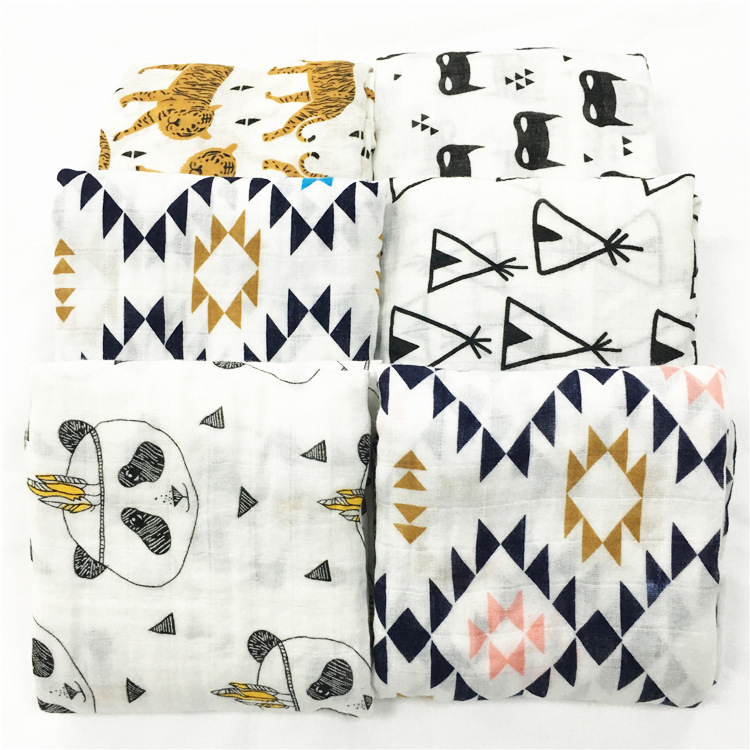 100% Cotton Newborns Soft Blanket Baby Swaddle Wrap Infant Face Hand Bathing Towel Bibs Bathing Square Towels 120*120cm