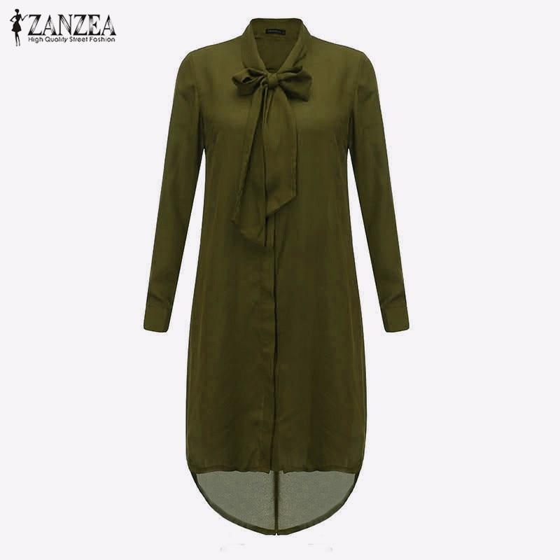 HTB1D.qwLXXXXXbHXVXXq6xXFXXXR - Women Shirt Vestido Bow Long Sleeve Casual Amsymetircal Chiffon