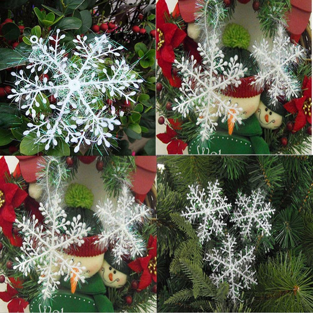 unidslote copo de nieve de navidad adornos colgantes para ventanas decoracin cm