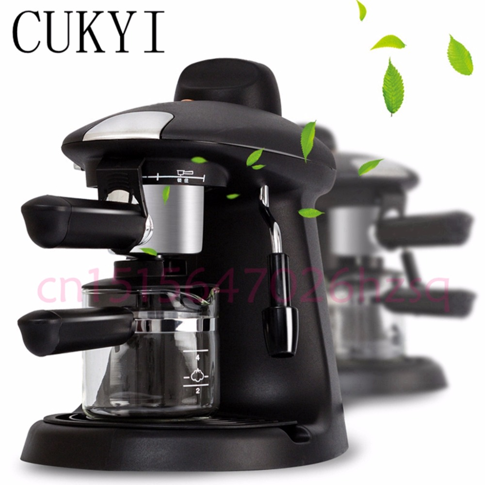 CUKYI Espresso coffee maker 4 Cup espresso cappuccino mocha Kitchen Grinding Tool Electrical italy espresso coffee machine semi automatic maker cup warming plate kitchen