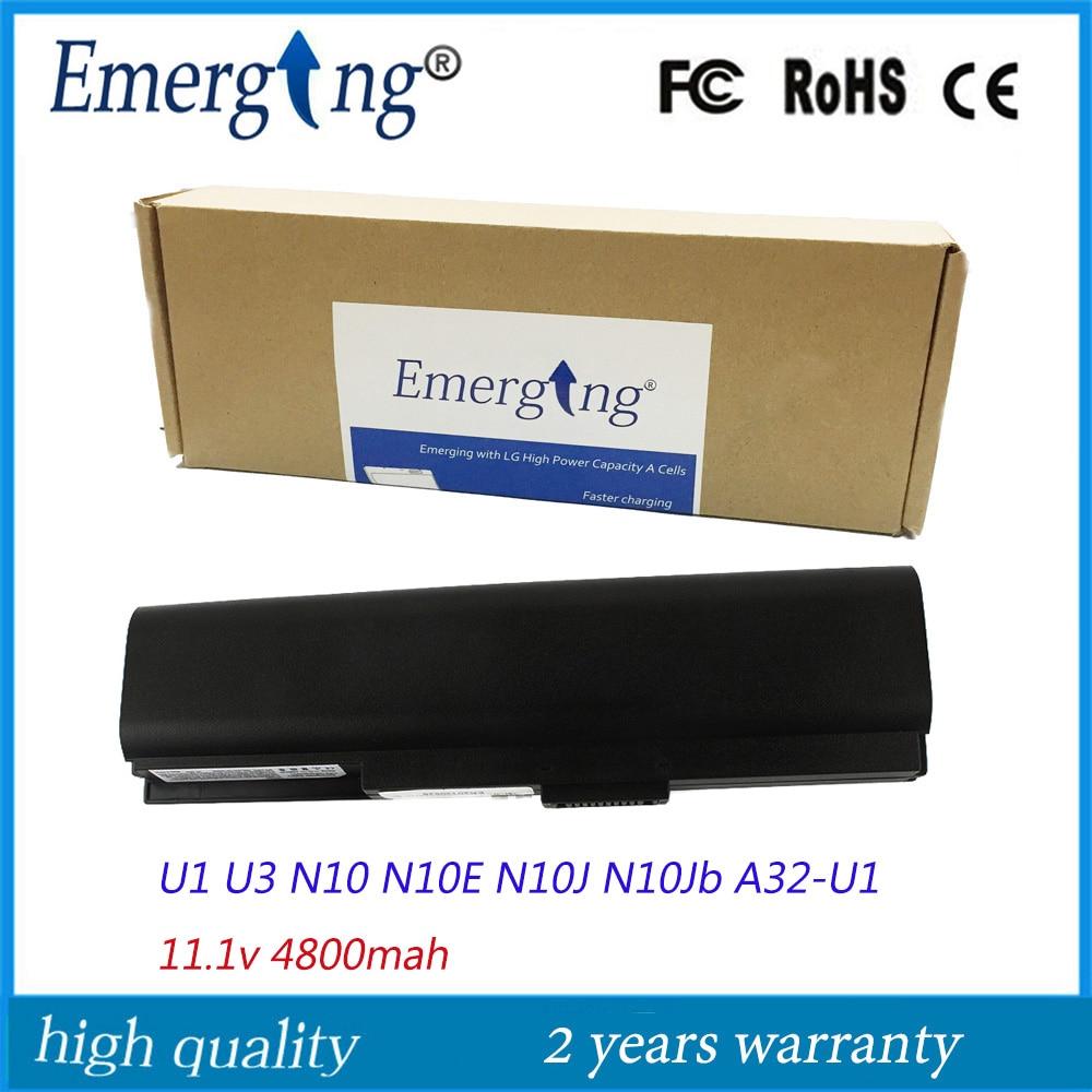 11.1v 4400mah Korea CELL High Quality New Laptop Battery for ASUS U1F U1E U3 U3K N10J N10E A32-U1