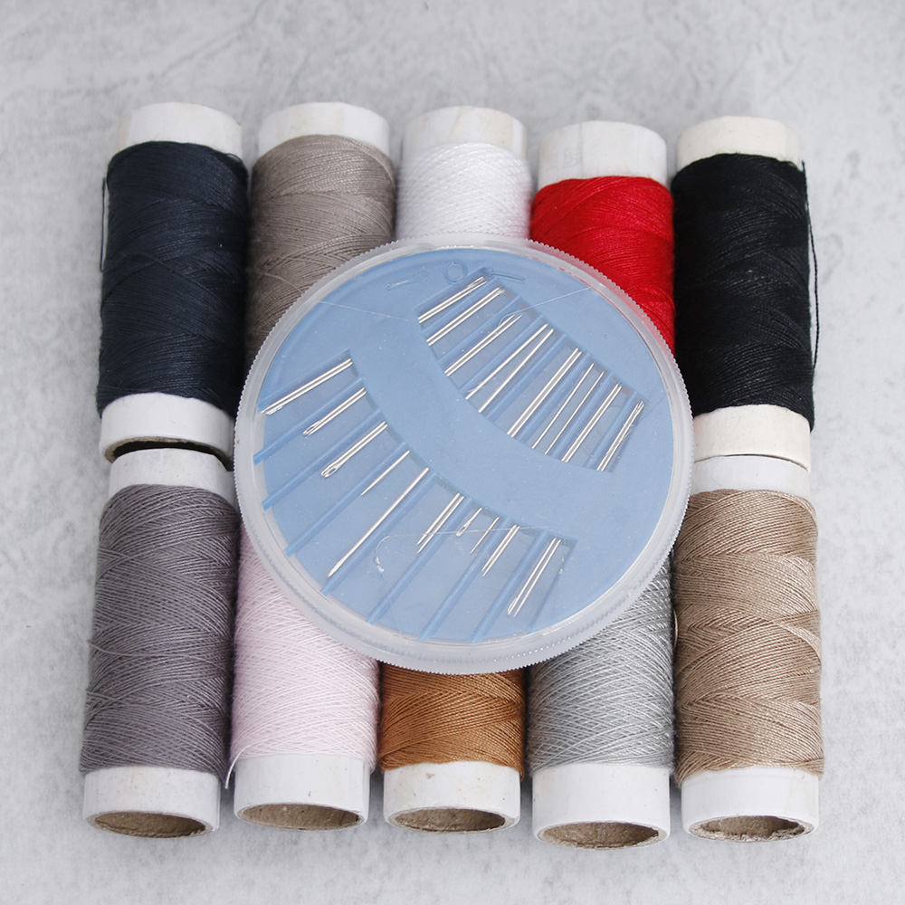 11pcs/set Hot Sales Home with 10 lines with needle sets home sewing needles and thread sewing kit ...