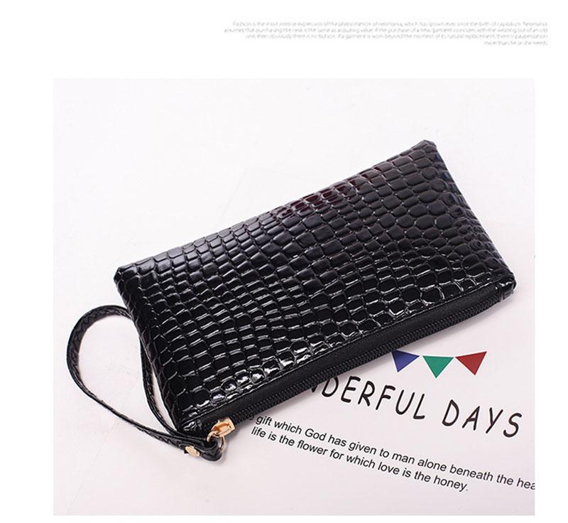 New Mini Day Clutches Women's Bag Korean Version Crocodile Pattern Clutch Bag Ladies Mobile Phone Bags Wallet PU Leather Handbag (9)