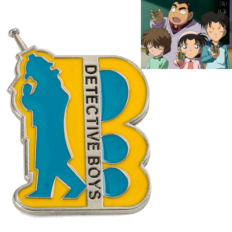 1PC Detective Conan Cosplay prop Communicator Cosplay Brooch Anime Props Badges Accessories Anime